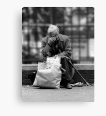 Weary Canvas Print