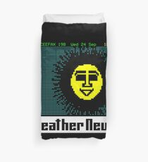 NDVH Pages From Ceefax - Weather News Duvet Cover