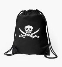 Pirate Skull and Swords Drawstring Bag