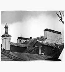 Roofs of Rathmullen House, Donegal, Ireland Poster
