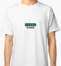 """Go Green"" Energy Conservation Logo Classic T-Shirt"