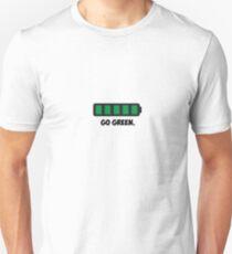 """Go Green"" Energy Conservation Logo T-Shirt"