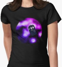 Tardis and the Nebula Womens Fitted T-Shirt