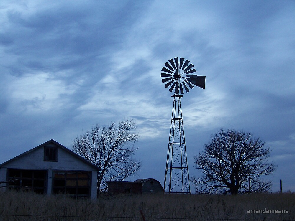 Windmill in Blue by amandameans