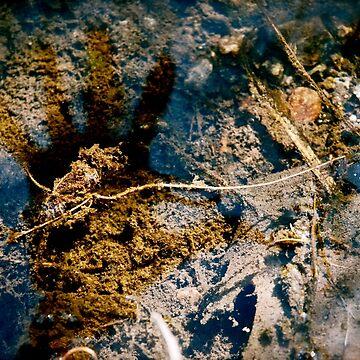 Underwater Handprint by galziariart