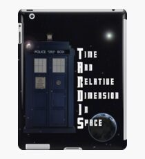 Time And Relative Dimension In Space TARDIS iPad Case/Skin