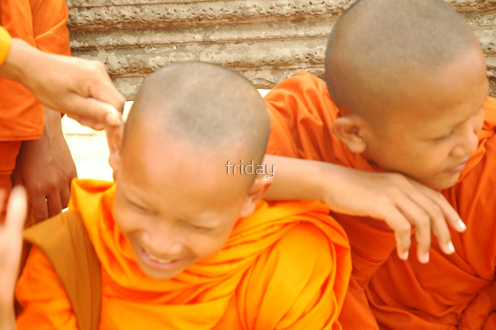 young monks  by Amagoia  Akarregi