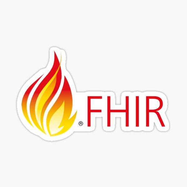 HL7 FHIR ® Flame & Text   Sticker