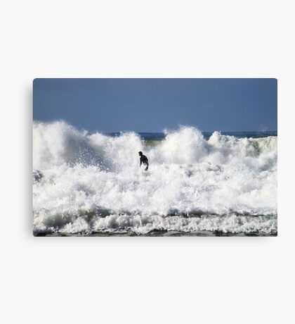 Windang Beach Surfing Canvas Print