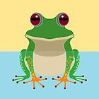 FROG IN WATER by Jean Gregory  Evans