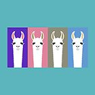 LLAMAS FOUR by Jean Gregory  Evans