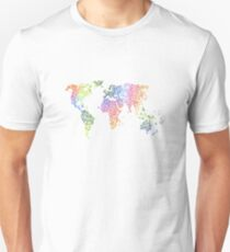 Colour Heart World Map Clothing Version Unisex T-Shirt