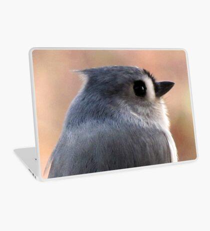 Tufted Titmouse Profile Portrait ... Slick Back Hair Laptop Skin