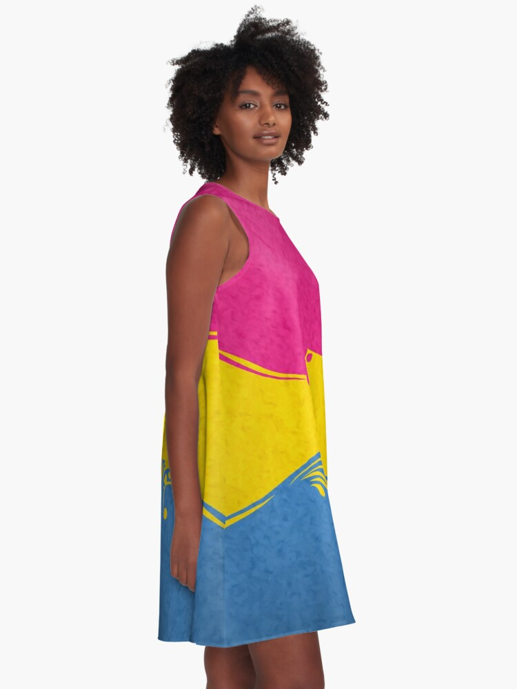 Alternate view of Pansexual Ornamental Flag A-Line Dress