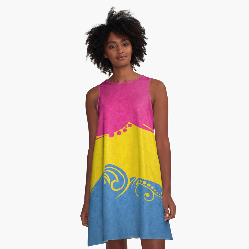 Pansexual Ornamental Flag A-Line Dress