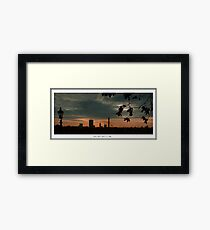 Sunrise view from Primrose Hill Framed Print