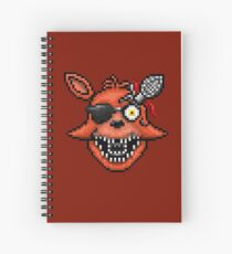 Five Nights at Freddy's 2 - Pixel art - Foxy Spiral Notebook