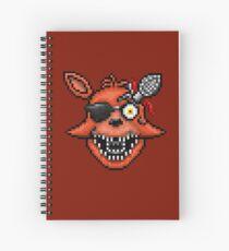 Fünf Nächte bei Freddy 2 - Pixel Kunst - Foxy Spiralblock