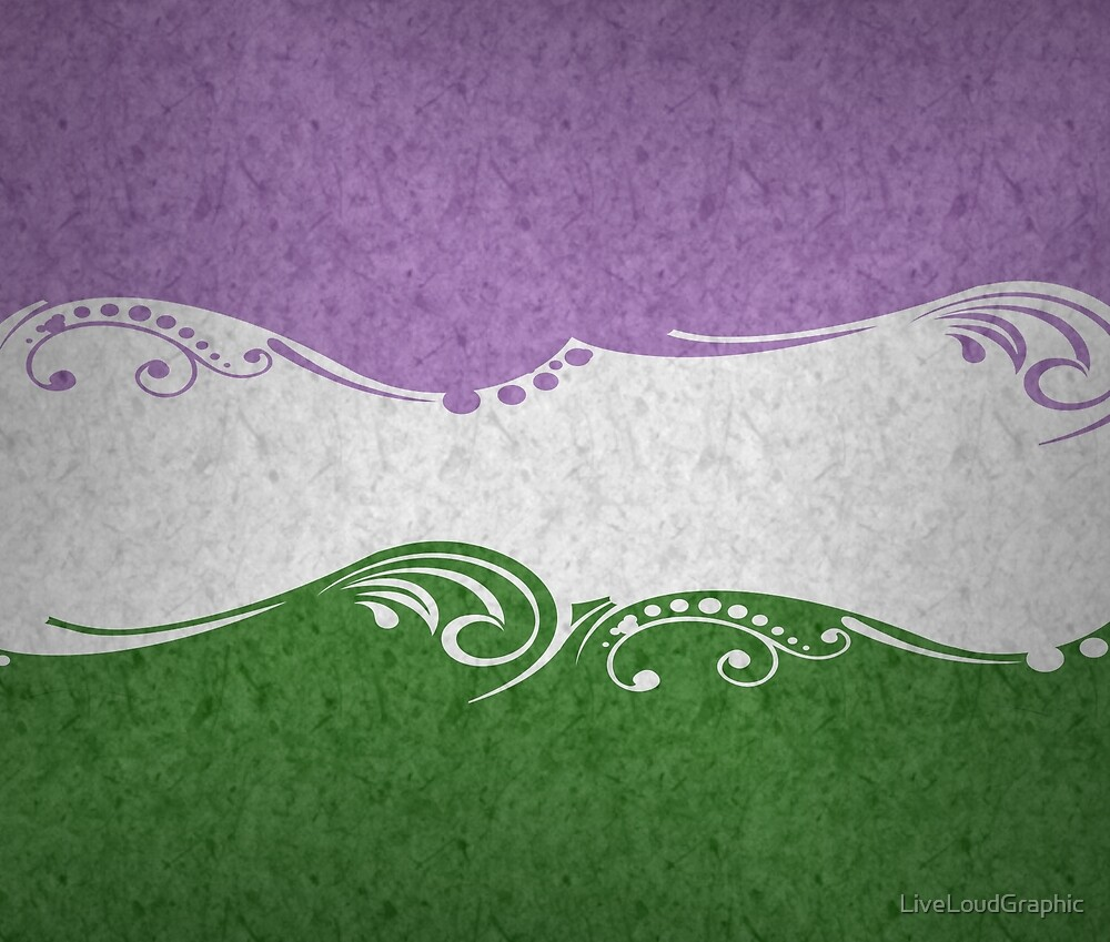 Genderqueer Ornamental Flag by LiveLoudGraphic