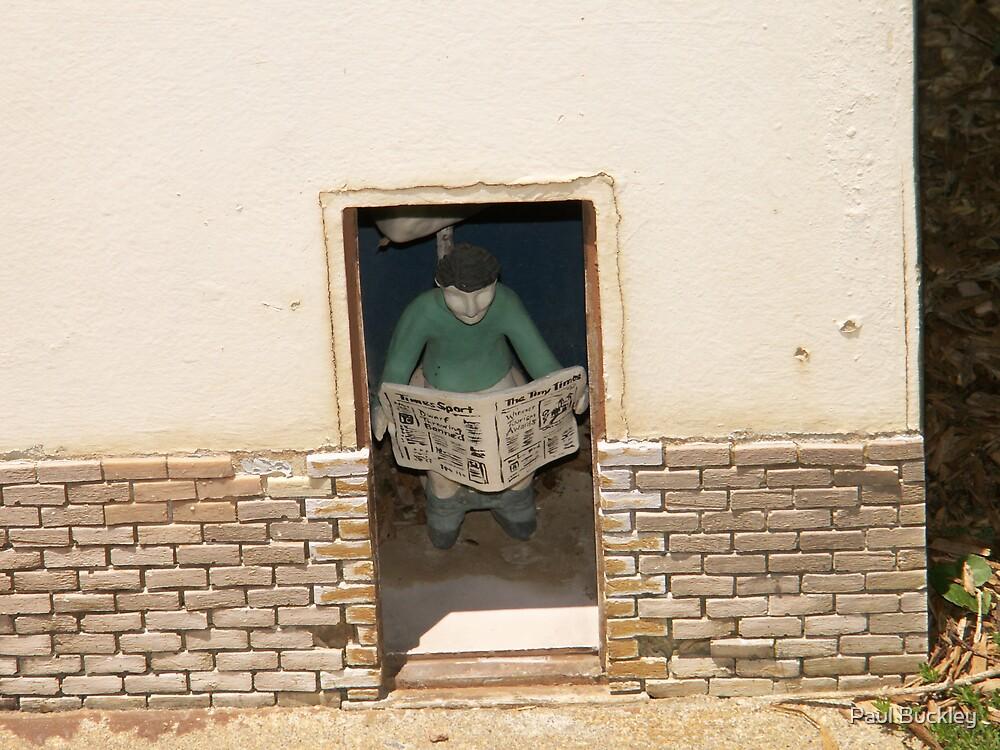toilet door by Paul Buckley