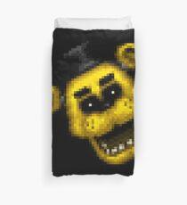 Five Nights at Freddy's 1 - Pixel art - Golden Freddy 2 Duvet Cover