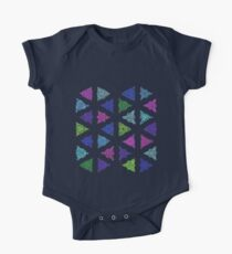Large Colourful Pattern Triangles on White Kids Clothes