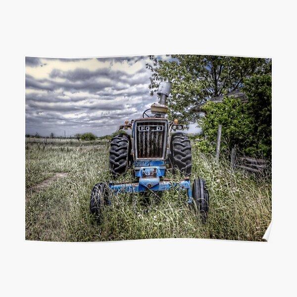 Oldtimer-Traktor Poster