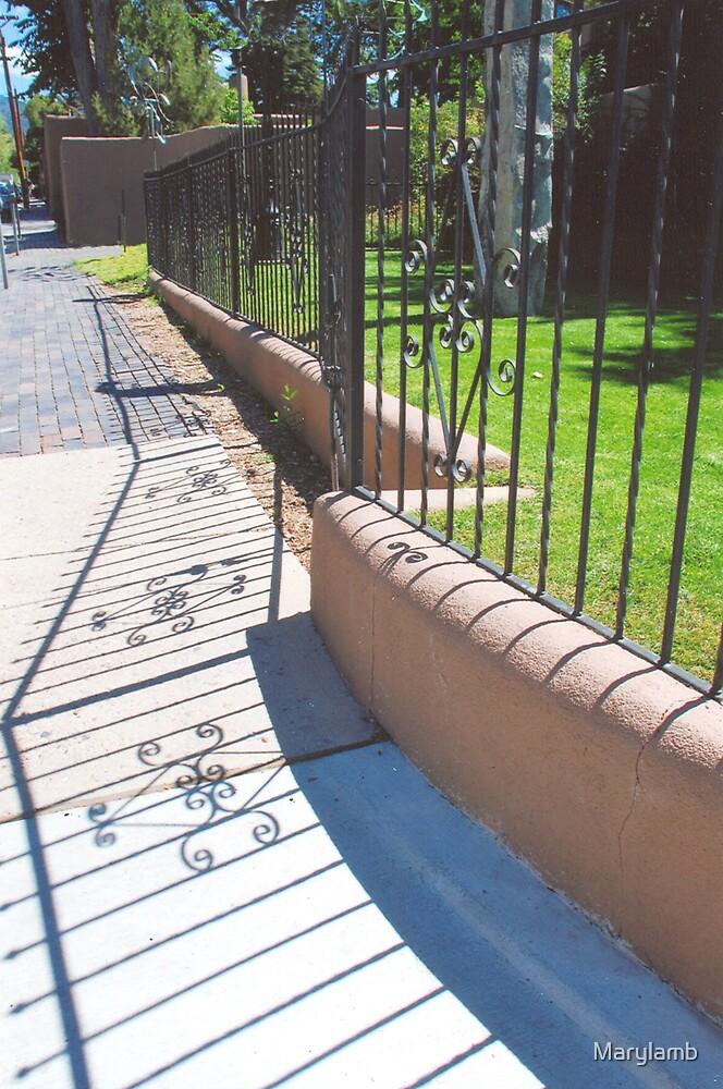 Sidewalk Santa Fe September by Marylamb