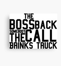 The Boss Back - Rick Ross Design Canvas Print