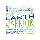 Earth Warrior - Participate - Green Blue Words by jitterfly