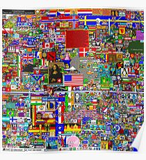 Reddit /r/Place 10K resolution Original Print – Final Version Poster