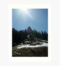 High on the mountain top. Art Print