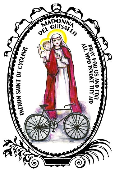 Madonna del Ghisallo Patron Saint of Cycling by myaltar