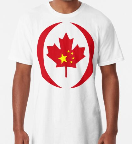 Chinese Canadian Multinational Patriot Flag Series Long T-Shirt