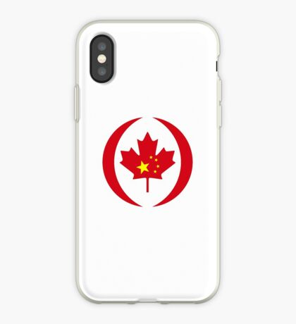 Chinese Canadian Multinational Patriot Flag Series iPhone Case