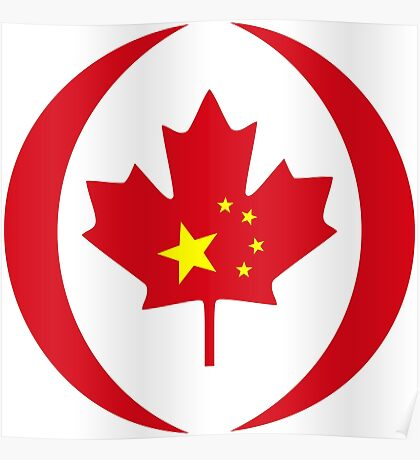 Chinese Canadian Multinational Patriot Flag Series Poster