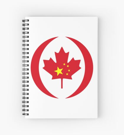 Chinese Canadian Multinational Patriot Flag Series Spiral Notebook