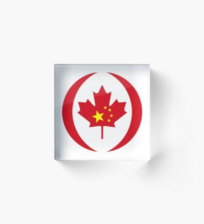 Chinese Canadian Multinational Patriot Flag Series Acrylic Block