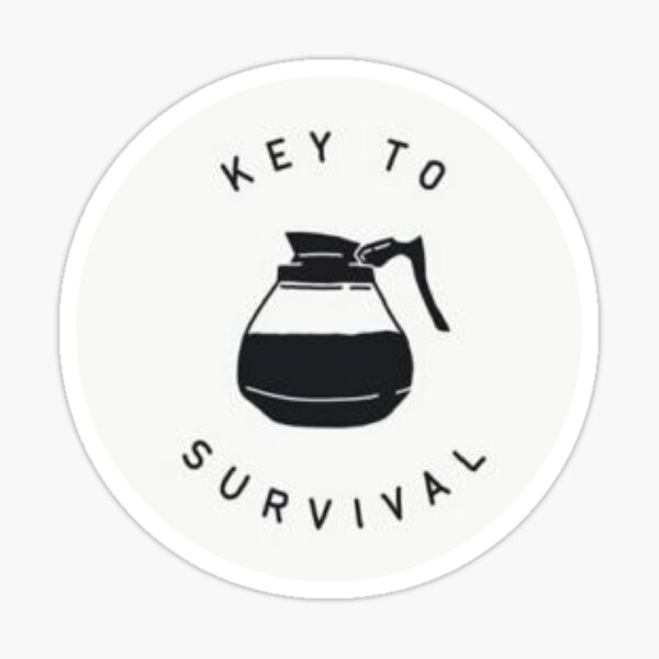 El café es clave Pegatina