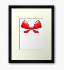 Cute little red BOW Framed Print