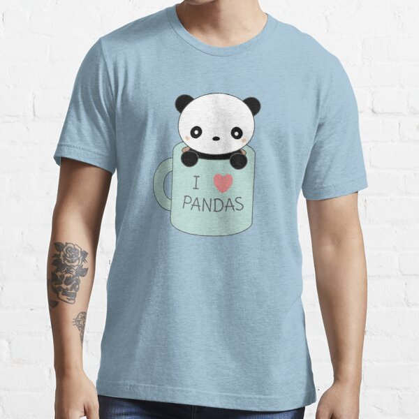 Kawaii Cute I Love Pandas  Essential T-Shirt