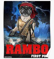 Rambo: First Pug Poster