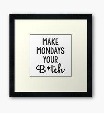 Mondays Framed Print