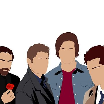 Supernatural - Sam, Dean, Castiel and Crowley by OutlineArt