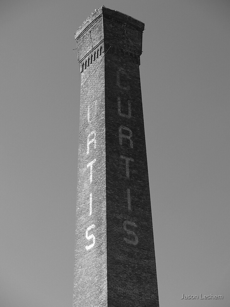 Curtis Mill Smokestack by Jason Leshem