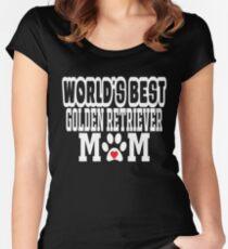 World's Golden Retriever Mom Dog Lover Women's Fitted Scoop T-Shirt