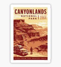 Vintage Canyonlands National Park Utah - Shafer Trail Sticker