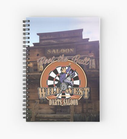Wild West Darts Saloon Darts Shirt Spiral Notebook