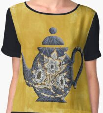 Tulips and Willow Pattern Teapot Chiffon Top