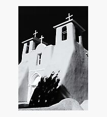 San Francisco de Asis Front View – Black and White Photographic Print